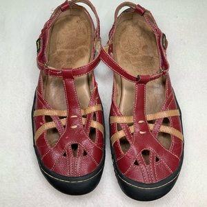Jambu Red Velcro walking shoe size 9.5